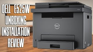 dell E525w Color Multifunction Laser Printer Unboxing Installation Review  Tuna FTW