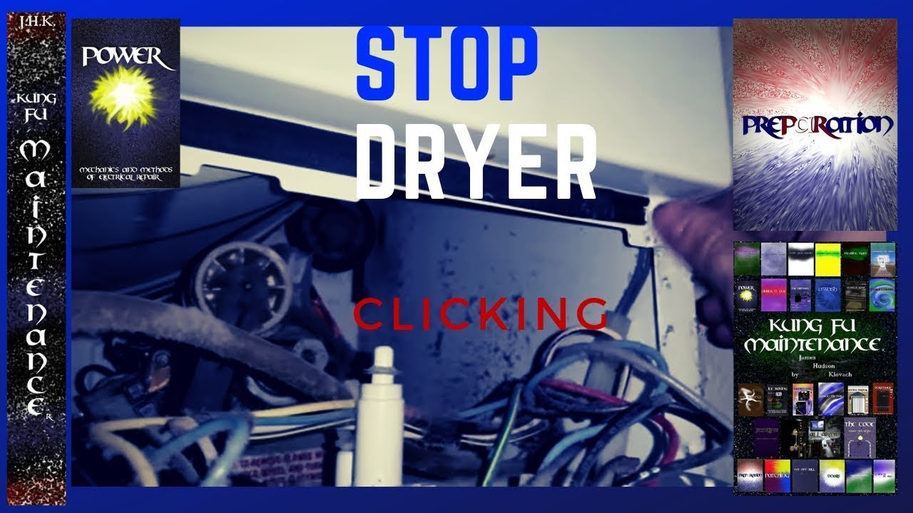 Clothes Dryer Laundry Center Clicking Easy Fix Cha Ching Two - YouTube