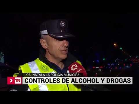Control de alcohol y drogas de la Policía Municipal de Madrid