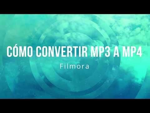 ¿Cómo convertir mp3 a mp4 con Filmora?