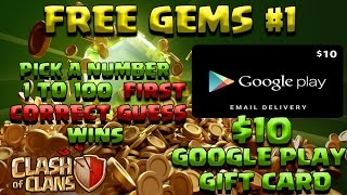 (WON) Clash Of Clans FREE GEMS GIVEAWAY COMPETITION NO HACK THANK YOU SPECIAL#1 OF 10