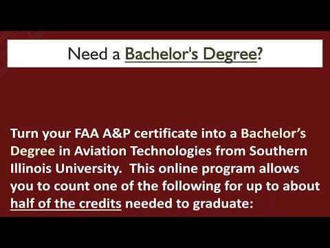 Turn your Aviation Career into a Bachelor's Degree
