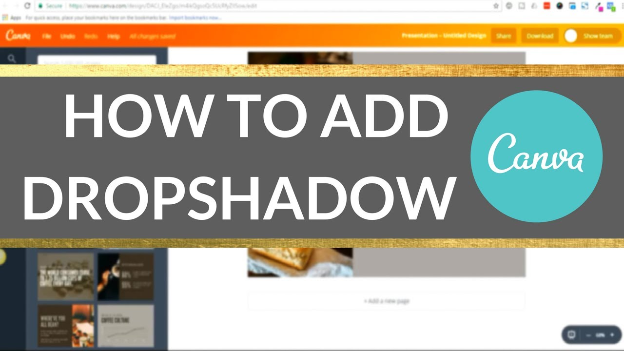 Canva Tutorial: How to Create Drop Shadow Images in Canva