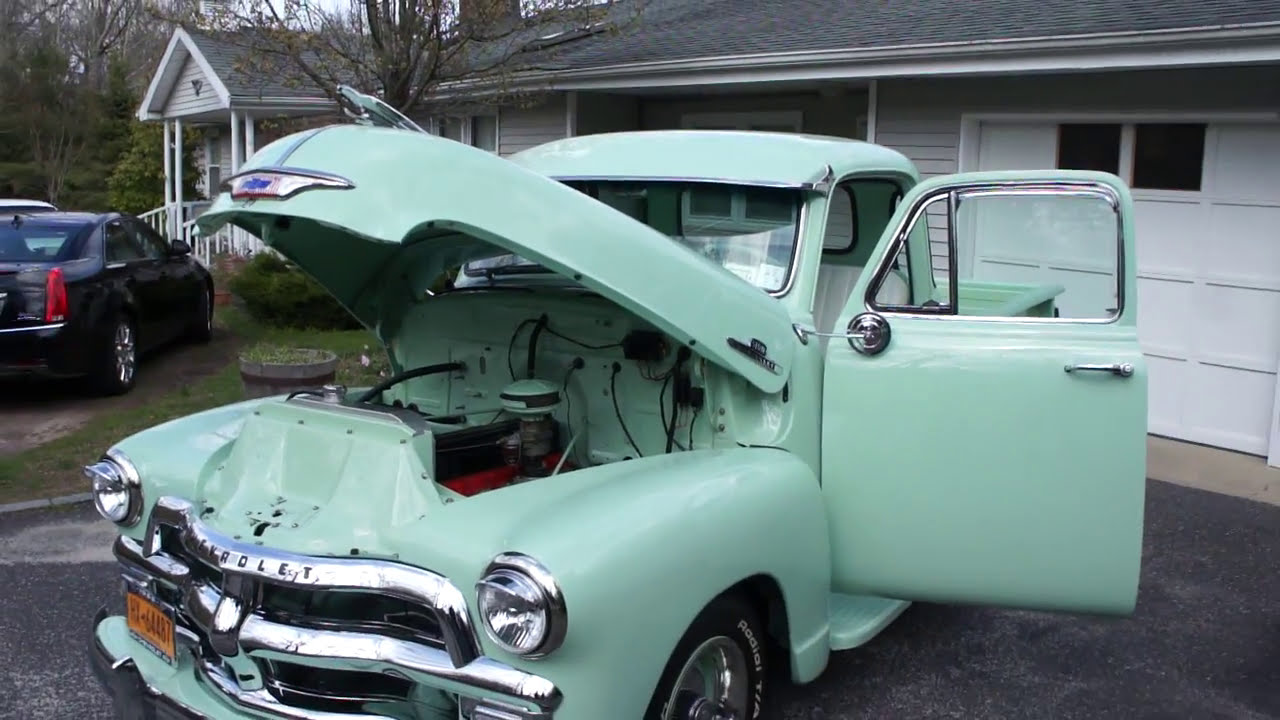 1955 chevrolet truck 3200 standard cab pickup 2 door 3 8l - 1955 Chevrolet 3100 Series 1 4 Window Pick Up For Sale Over The Top Restored Just Fantastic Youtube