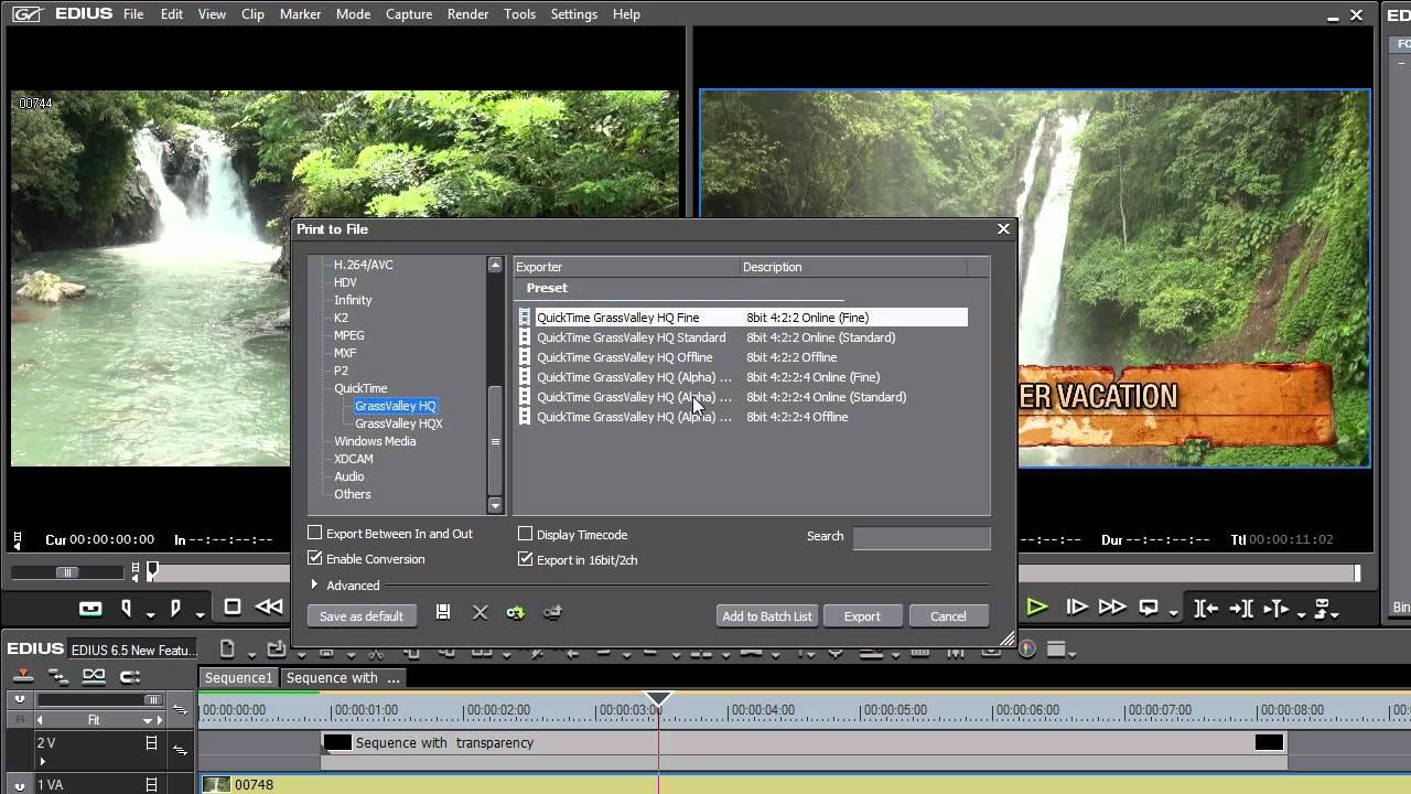 12:QuickTime Codecs in EDIUS Pro 6 5