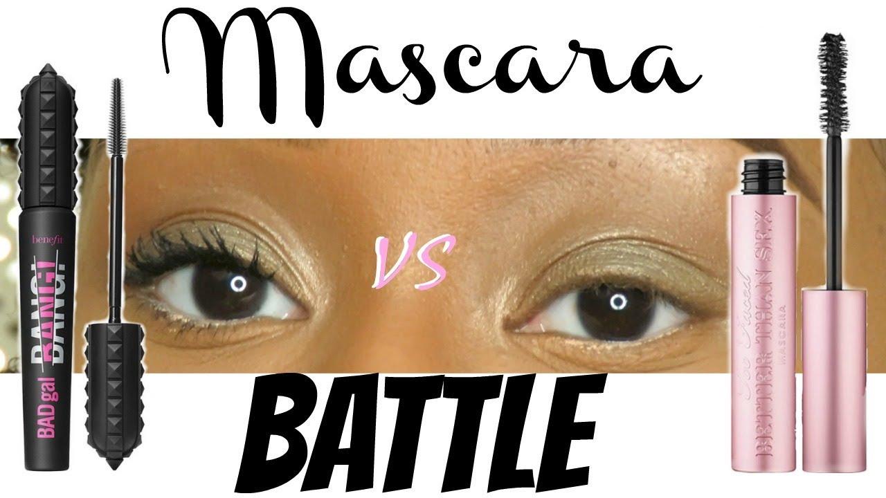 60bd32f9c51 Voluminous Mascara Comparison 2018| Benefit Badagl Bang vs. Too Faced  Better Than Sex