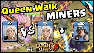 *Queen Walk Miner* When to use more Healers | Clash of Clans