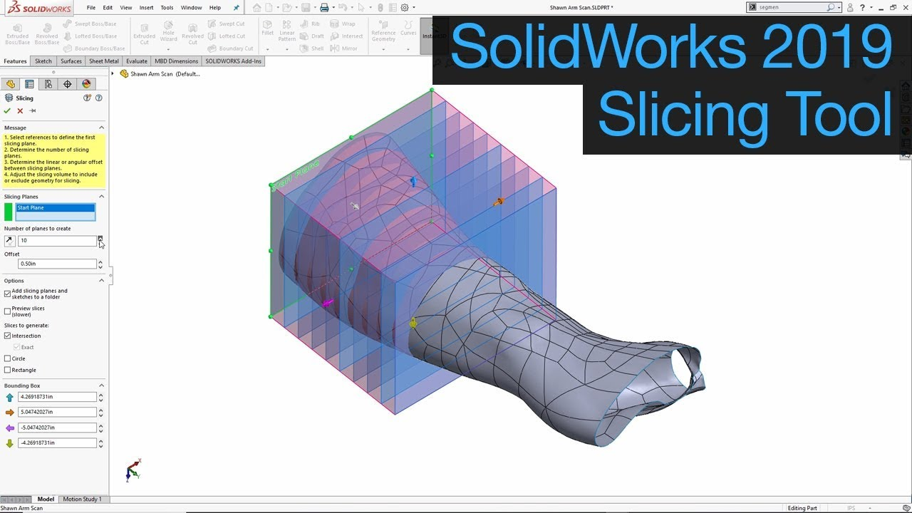 Solidworks 2019 - Slicing Tool