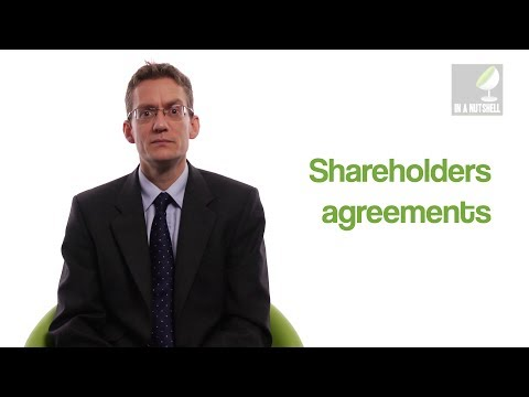 Shareholders agreements - In a nutshell