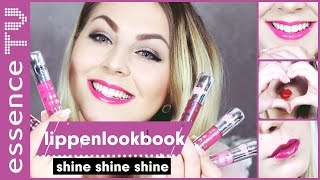 essence neues sortiment 2017 - shine shine shine lipglosse - swatches - sneak peek l essenceTV