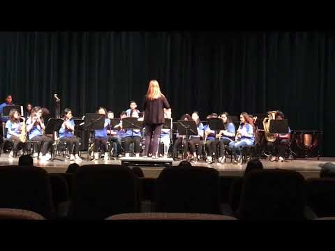 Lovonya DeJean Middle School Band at Music in the Parks in 2018
