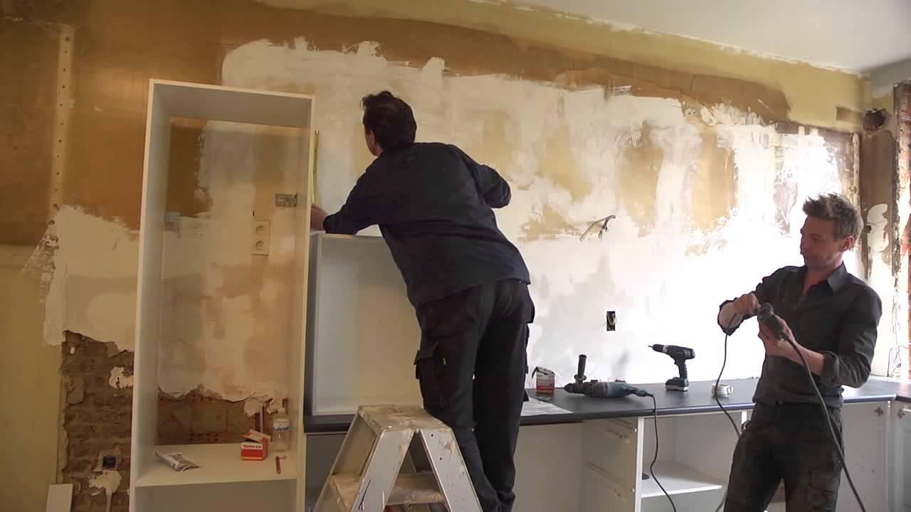 Keukenkasten en werkblad plaatsen klustips gamma belgië youtube