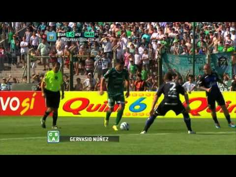 Gol de Núñez.Sarmiento 1 Atlético 0.Fecha 18.Torneo Primera B Nacional.FPT