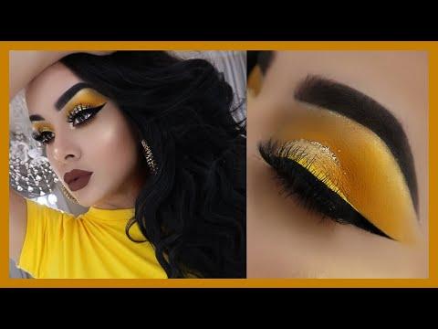Tutorial de maquillaje en tonos amarillos