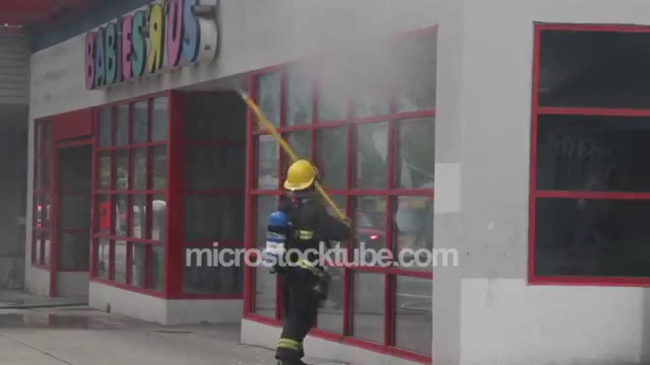 Firemen use the pole 3
