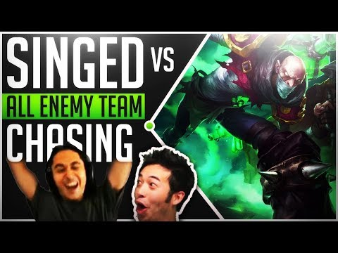 What Could Possibly Go Wrong When All Enemy Team Chase Singed ? - Best of LoL Streams #157