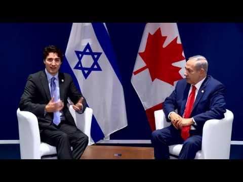 PM Netanyahu Meets Canadian PM Trudeau