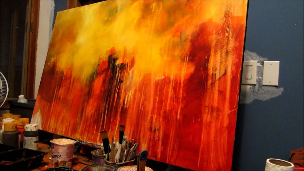 Abstract painting acrylic techniques for Acrylic background techniques