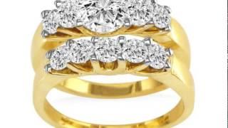 1/2ct Diamond Bridal Set With .12ct Center Diamond in 14k Yellow Gold - SuperJeweler.com