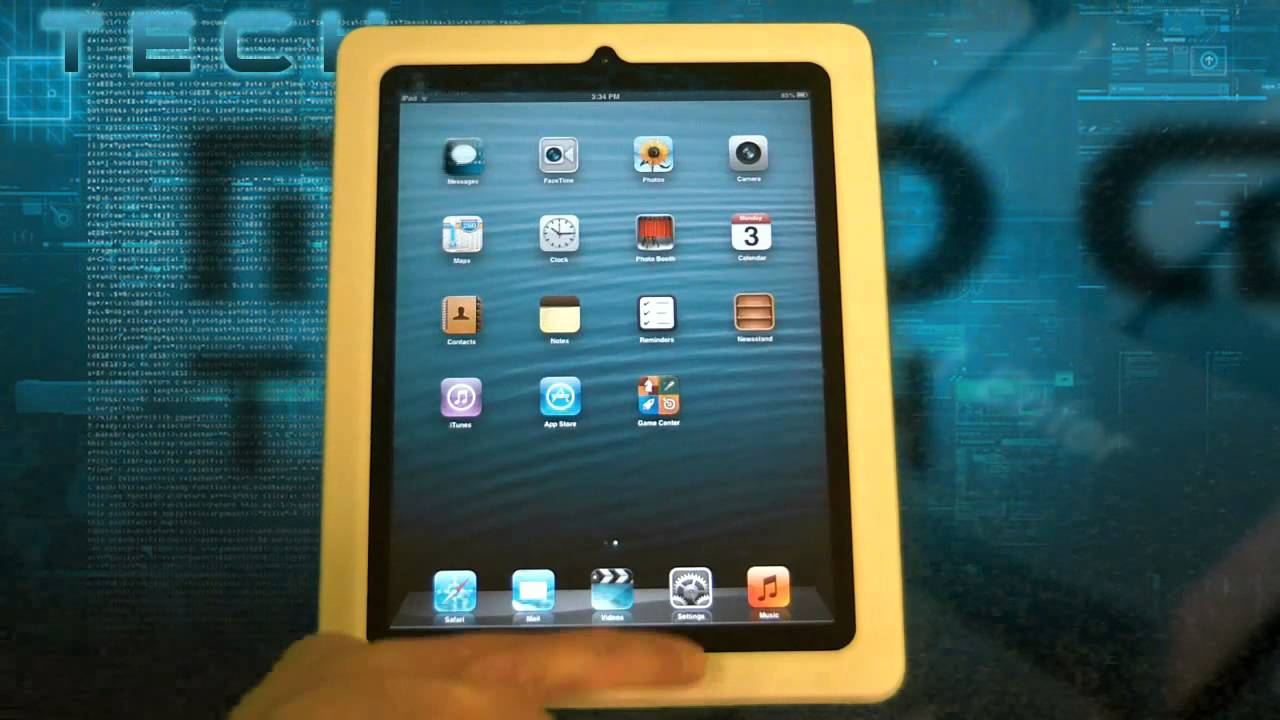 How to close background applications on an iPad