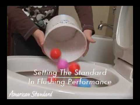 The Virtually Child Proof Champion 4 Toilet by American Standard  YouTube