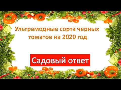 Ультрамодные сорта черных томатов на 2020 год