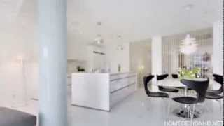 Crisp Three Bedroom Apartment In Sweden Featuring An Open Floor Plan