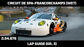 Gran Turismo Sport - Daily Race Lap Guide - Circuit de Spa-Francorchamps (Wet) - Porsche 911 RSR