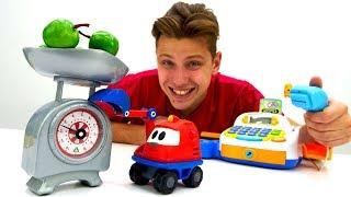 Видео для детей - Профессия продавец - Веселая школа с игрушками