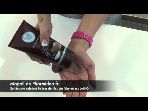Laino gel douche exfoliant aux éclats de coco  | Pharmidea.fr parapharmacie en ligne