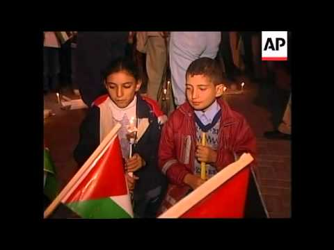 GAZA: CHILDREN HOLD PEACE RALLY