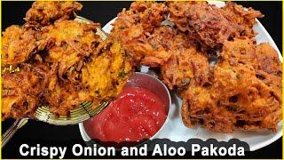 आल र पयजक पकड यसर बनएर खनस सवद मखम झनडनछ  Onion and Aloo pakoda by Chef Suni