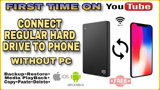 How to Wirelessly Connect External Hard Drive Pen Drive Transfer Backup iPhone Data via Wifi Router