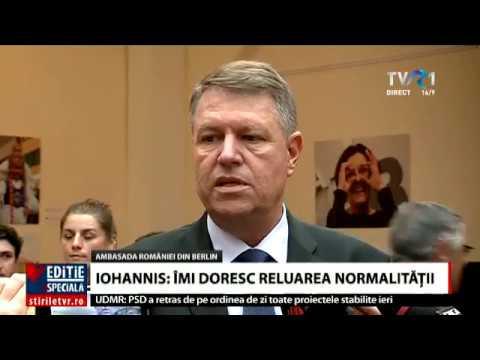 Klaus Iohannis, declaraţii de la Berlin despre criza din România
