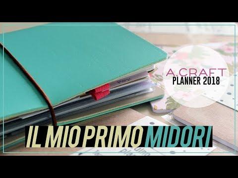 IL MIO PRIMO MIDORI 💛 - A.Craft Planner 2018   Qualcosa di Erre