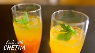 How to make the best lemonade using Peaches and Mangos - Food with Chetna