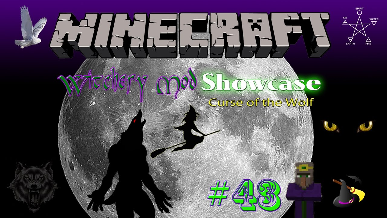 MINECRAFT: WITCHERY MOD SHOWCASE #43: CURSE AND CURE OF THE WEREWOLF!