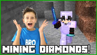 Going Mining for Diamonds in Minecraft Hardcore!