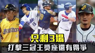 【中華職棒】只剩3場 打擊三冠王獎座還有得爭 | 投打對決 | 台灣蘋果日報