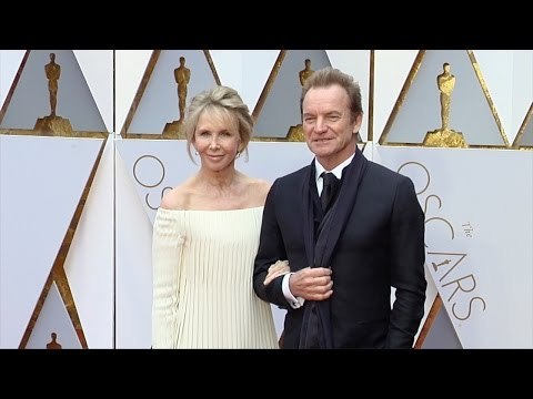 Sting and Trudie Styler 2017 Oscars Red Carpet