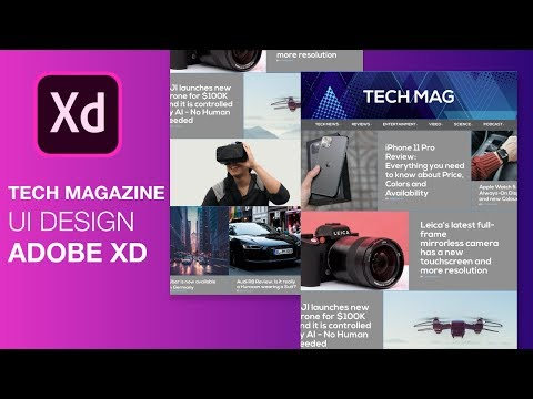 How to make a Website UI Design   Adobe XD Web Design Tutorial thumbnail
