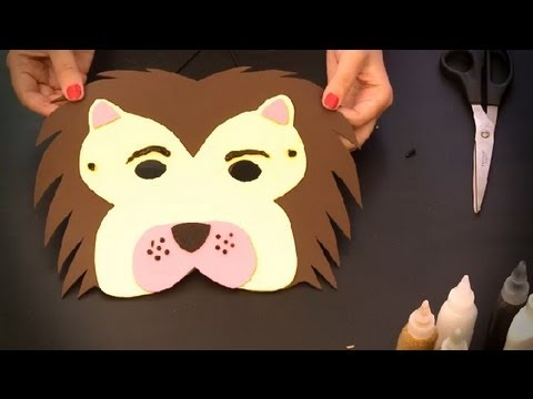 Cómo hacer un antifaz de león : Antifaces de animales para niños ...