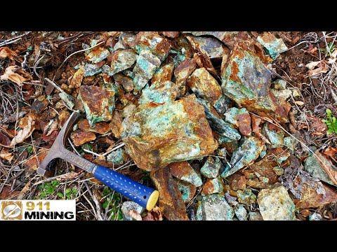 High Grade Gold, Silver & Copper Ore From A Mine Dump!