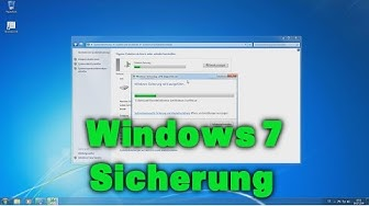 Backup / Sicherung mit Windows 7 Bordmitteln