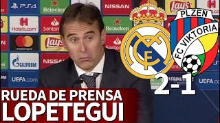 Real Madrid 2-1 Viktoria Plzen | Rueda de prensa de Lopetegui | Diario AS