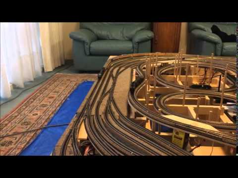 N Scale Coffee Table Train Layout Pt. 2