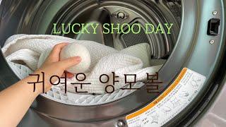 살림VLOG 좁은 세탁실 베란다 청소 : 세탁기 건조기…