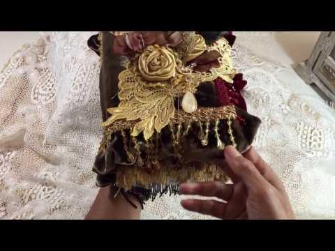 Fabric lace appliqué book