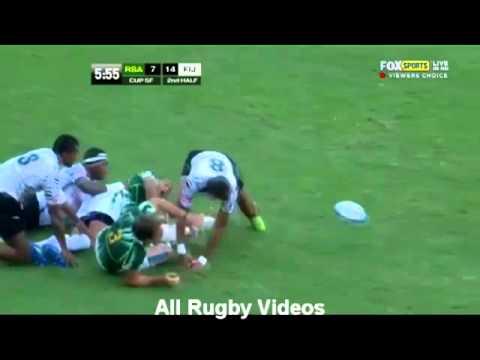 Gold Coast 7's Rugby Semi Final South Africa VS Fiji | 2012 | Full Match