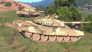 СИМУЛЯЦИЯ ТАНКОВОГО БОЯ Т-90 и танков АБРАМС ! В Игре Симуляторе Arma 3